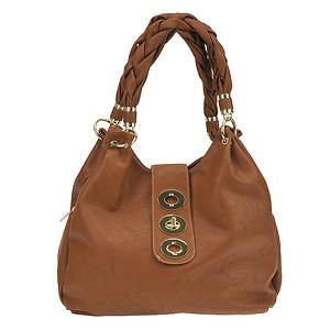 Braided Handle Shoulder Bag