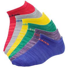 adidas Girls' Superlite 6-Pack No Show Socks