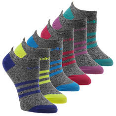 adidas Girls' Superlite 6-Pack No Show Socks