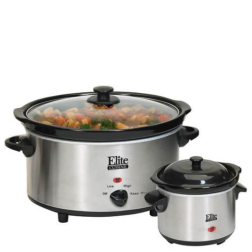 Elite® 5-qt. Slow Cooker With Mini Dipper