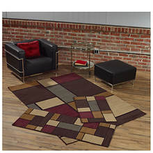 3-Piece Rhombus Rug Set