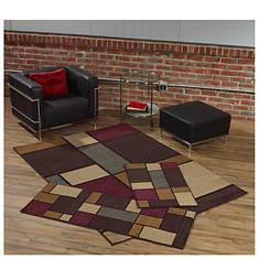 3-Piece Rhombus Rug Set