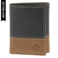 Timberland Men's Hunter Two-Tone Trifold Wallet