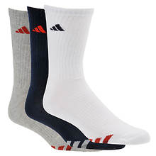 Adidas Cushioned Color 3-Pack Men's Crew Socks