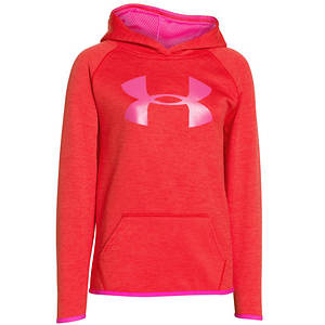 Under Armour Girls' UA Armour(R) Fleece Printed Big Logo Hoodie