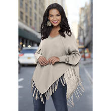 Tasseled Poncho Sweater