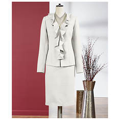 Ruffle Jacket and Skirt Suit