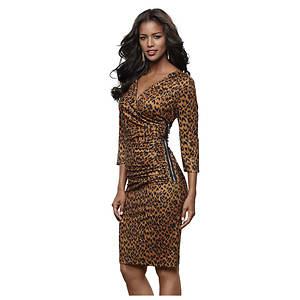 Animal Side Zip Dress