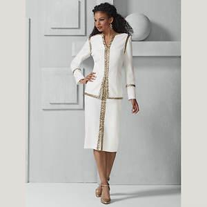 Leopard-Trimmed Crepe Suit