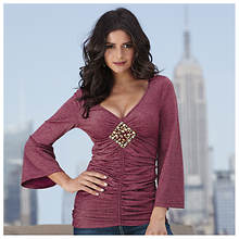 Ruched Crystal Top