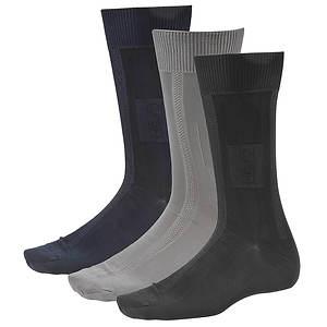 Stacy Adams Men's Gemstone 3-Pack Crew Socks
