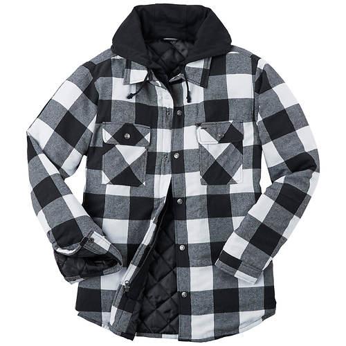 Men's Hooded Flannel Shirt Jacket
