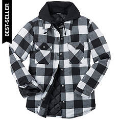 Men's Hooded Flannel Shirt Jacket