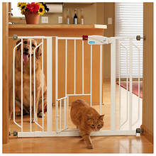 Walk-Through Pet Gate With Small Pet Door