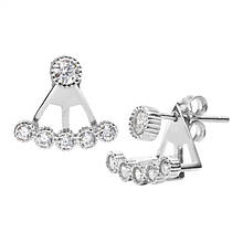 Sterling Silver Front & Back Earring