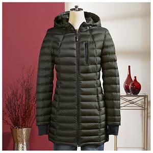 Long Packable Puffer Coat