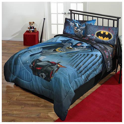dc comics batman twin full comforter color out of stock stoneberry. Black Bedroom Furniture Sets. Home Design Ideas