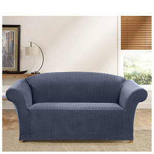 Awesome Surefit Simple Stretch Ribbon Stripe Loveseat Slipcover Gmtry Best Dining Table And Chair Ideas Images Gmtryco
