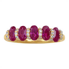 Lab Created Ruby and Lab Created White Sapphire Ring