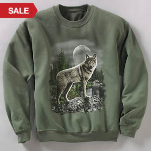 Wildlife Sweatshirt - Wolf