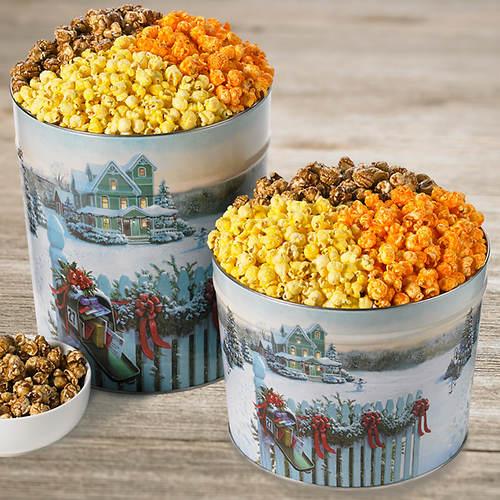nostalgic christmas popcorn trio