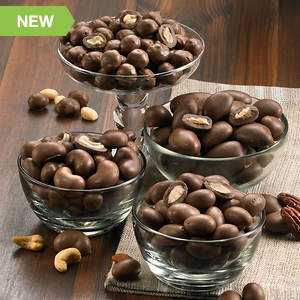 Double Chocolate Dipped Nuts - Pecan