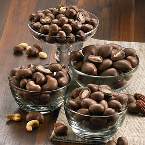 Double Chocolate Dipped Nuts - Peanut