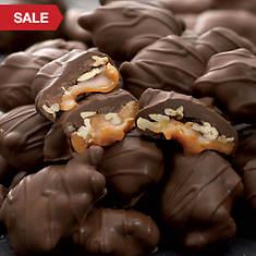 Caramel Pecan Clusters - Dark Chocolate