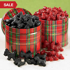 Licorice Scottie Dogs - Red