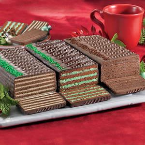 Dobosh Torte - Double Chocolate/Creme de Menthe/Chocolate