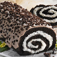 Creamy Cake Roll - Cookies 'n Cream