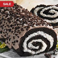 Creamy Cake Roll - Cookies 'n Cream
