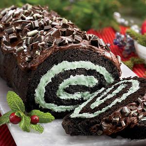 Creamy Cake Roll - Chocolate Mint