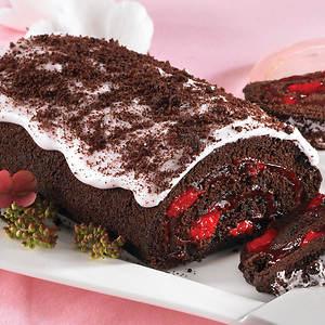 Creamy Cake Roll - Black Forest
