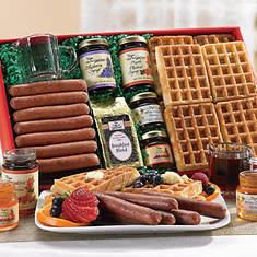 Waffles & Sausage Breakfast