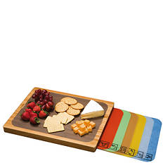 Seville Classics Bamboo Cutting Board With Mats