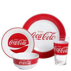 Gibson Enjoy Coca-Cola 4-Piece Place Setting - Opened Item