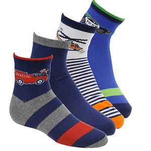 Stride Rite Boys' 4-Pack Russel Quarter Socks