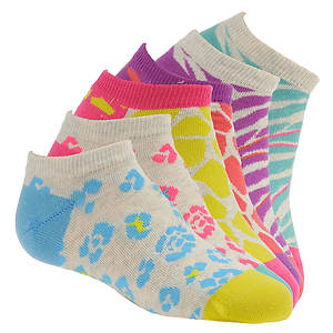 Stride Rite Girls' 6-Pack Kensie No Show Socks