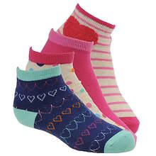 Stride Rite Girls' 4-Pack Penny Quarter Socks