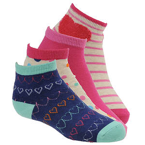 Stride Rite Girls' 4-Pack Penny Quarter Socks