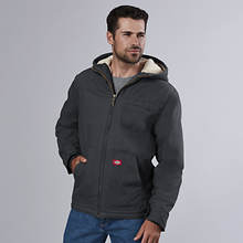 Dickies Men's Sanded Duck Sherpa Hooded Jacket