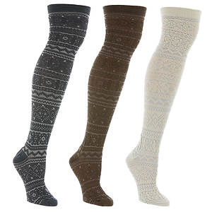 MUK LUKS Trish 3-Pack Over the Knee Socks (Women's)