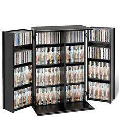 Locking Media Storage Cabinet with Shaker Doors