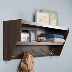 Floating Entryway Shelf and Coat Rack