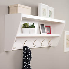Floating Entryway Shelf and Coat Rack