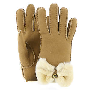 UGG® Bow Shearling Glove (Women's)