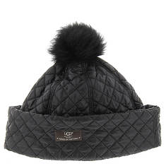 UGG® Quilted Hat with Pom (Women's)