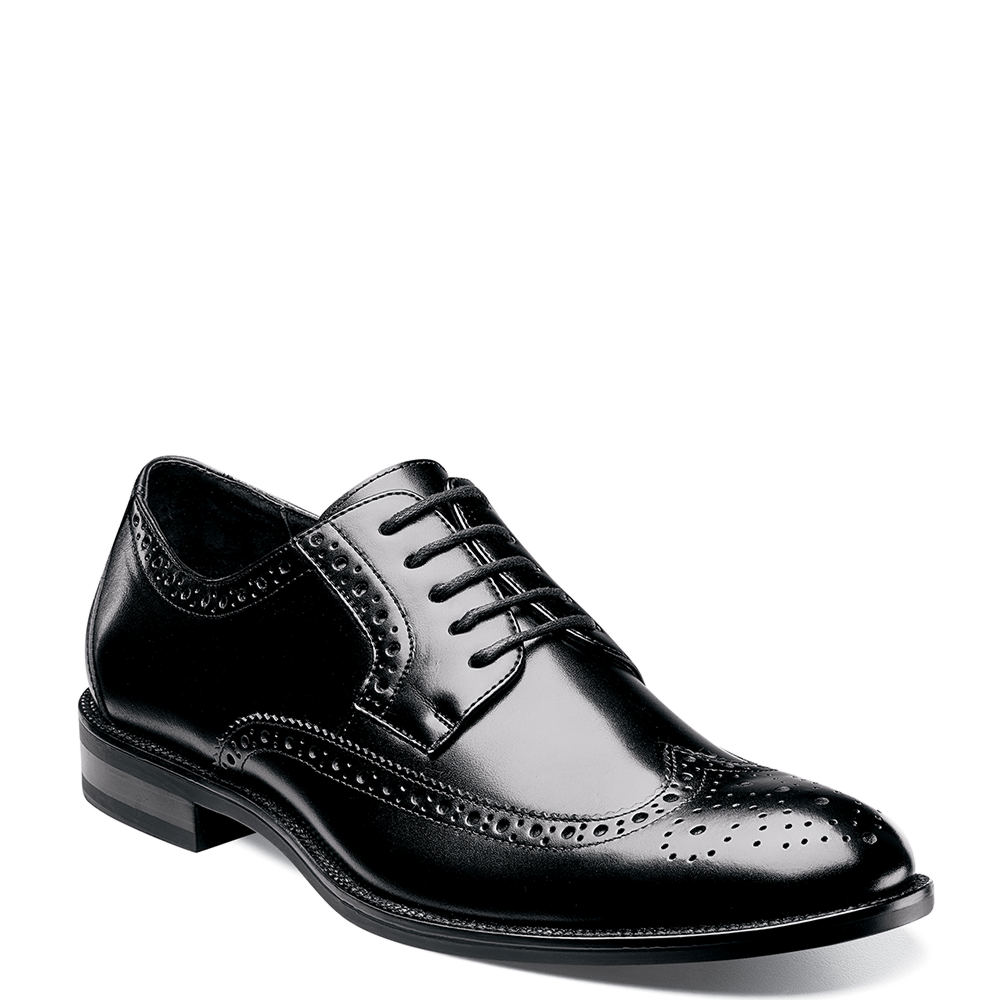 1940s Men's Shoes: Men's Vintage Shoe History Stacy Adams Garrison Mens Black Oxford 10.5 E $94.95 AT vintagedancer.com