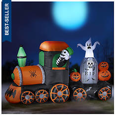7' Inflatable Halloween Train